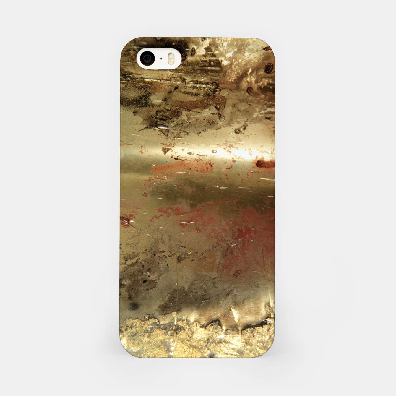 Image of Golden grunge  iPhone Case - Live Heroes
