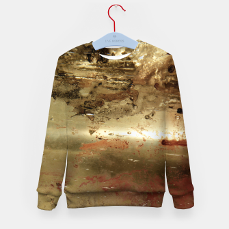 Thumbnail image of Golden grunge  Kid's sweater, Live Heroes