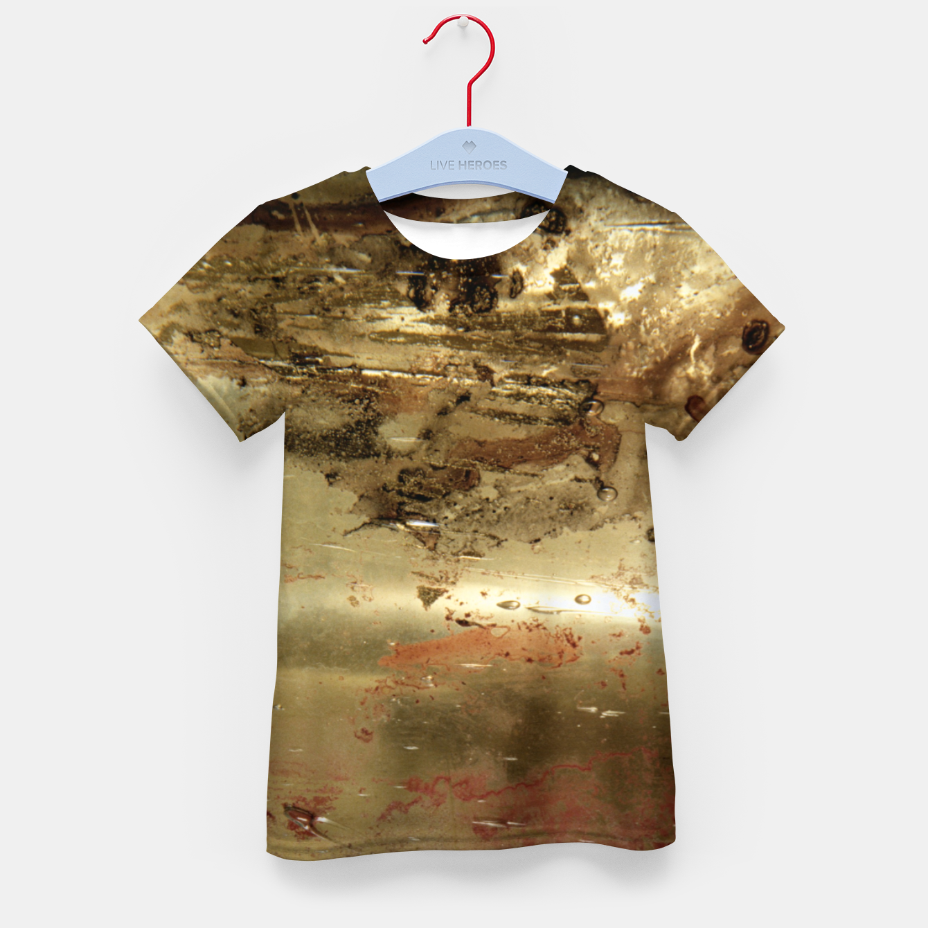 Image of Golden grunge  Kid's t-shirt - Live Heroes