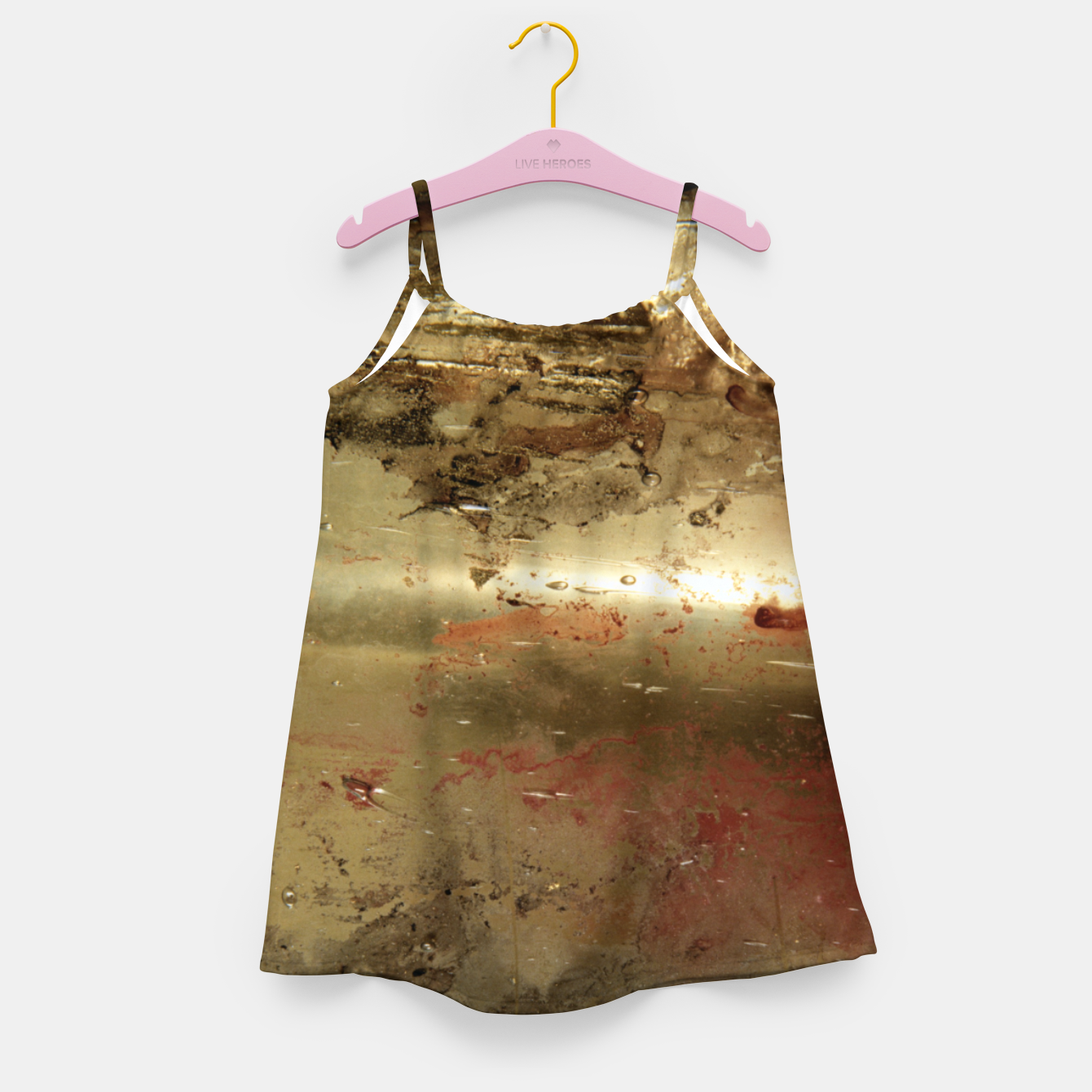 Image of Golden grunge  Girl's dress - Live Heroes