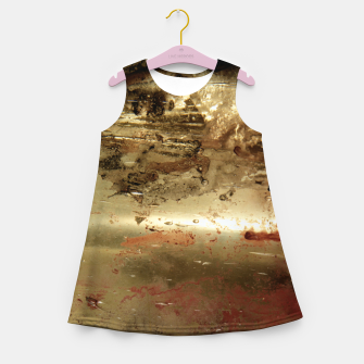 Thumbnail image of Golden grunge  Girl's summer dress, Live Heroes