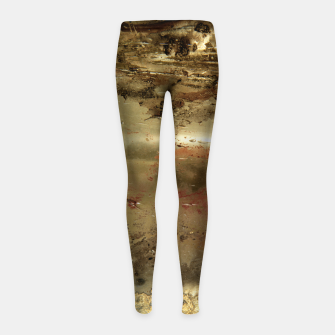 Thumbnail image of Golden grunge  Girl's leggings, Live Heroes
