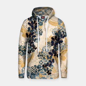 Thumbnail image of Japanese traditional family crest art. Blue Butterfly Hoodie, Live Heroes