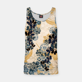 Thumbnail image of Japanese traditional family crest art. Blue Butterfly Tank Top, Live Heroes