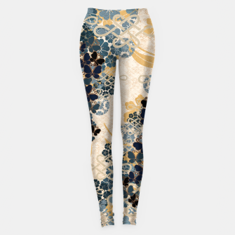 Thumbnail image of Japanese traditional family crest art. Blue Butterfly Leggings, Live Heroes