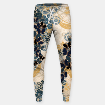 Thumbnail image of Japanese traditional family crest art. Blue Butterfly Sweatpants, Live Heroes