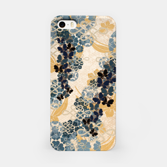 Thumbnail image of Japanese traditional family crest art. Blue Butterfly iPhone Case, Live Heroes
