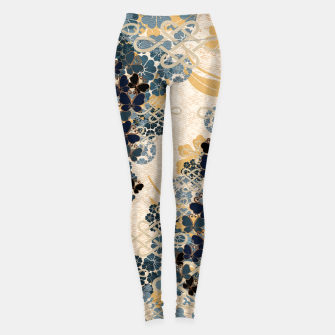 Miniatur Japanese traditional family crest art. Blue Butterfly Leggings, Live Heroes
