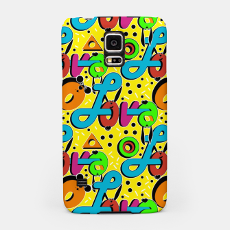Miniatur Abstract graffiti style modern love forms a geometric print Samsung Case, Live Heroes