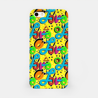 Miniatur Abstract graffiti style modern love forms a geometric print iPhone Case, Live Heroes