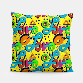 Miniatur Abstract graffiti style modern love forms a geometric print Pillow, Live Heroes