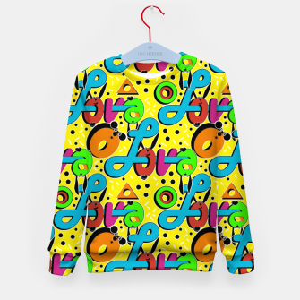Miniatur Abstract graffiti style modern love forms a geometric print Kid's sweater, Live Heroes