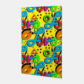 Thumbnail image of Abstract graffiti style modern love forms a geometric print Canvas, Live Heroes