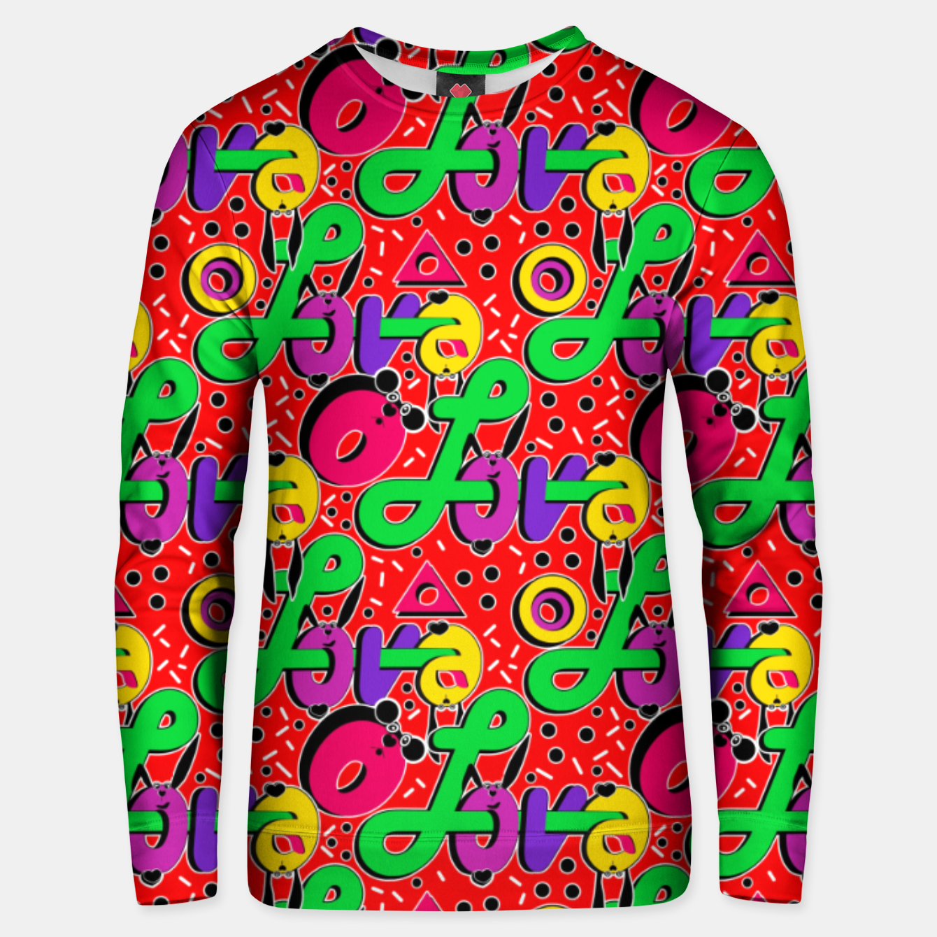 Image of Abstract graffiti style modern love forms a geometric print Unisex sweater - Live Heroes