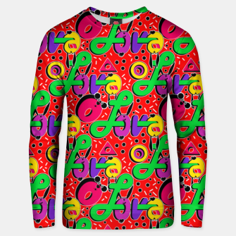 Miniatur Abstract graffiti style modern love forms a geometric print Unisex sweater, Live Heroes