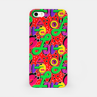 Thumbnail image of Abstract graffiti style modern love forms a geometric print iPhone Case, Live Heroes