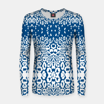 Miniatur Leopard blue Sudadera para mujeres, Live Heroes