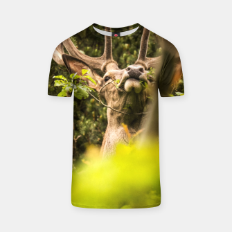 Thumbnail image of happy deer T-shirt, Live Heroes