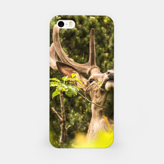 Thumbnail image of happy deer iPhone Case, Live Heroes
