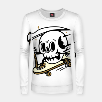 Thumbnail image of Skullboarding Women sweater, Live Heroes