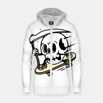Thumbnail image of Skullboarding Zip up hoodie, Live Heroes