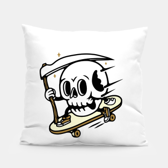Thumbnail image of Skullboarding Pillow, Live Heroes