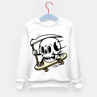 Thumbnail image of Skullboarding Kid's sweater, Live Heroes