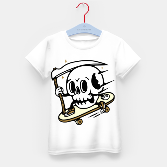 Thumbnail image of Skullboarding Kid's t-shirt, Live Heroes