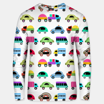 Thumbnail image of children's car cartoon, mixed colors Unisex sweater, Live Heroes