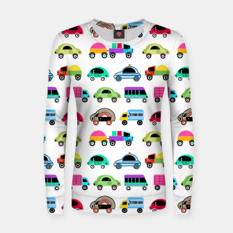 Thumbnail image of children's car cartoon, mixed colors Women sweater, Live Heroes