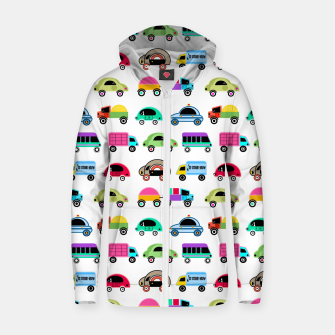 Thumbnail image of children's car cartoon, mixed colors Zip up hoodie, Live Heroes