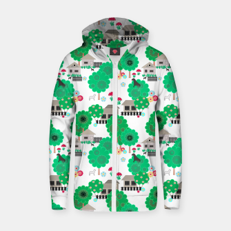 Thumbnail image of Fun children's  pattern Zip up hoodie, Live Heroes