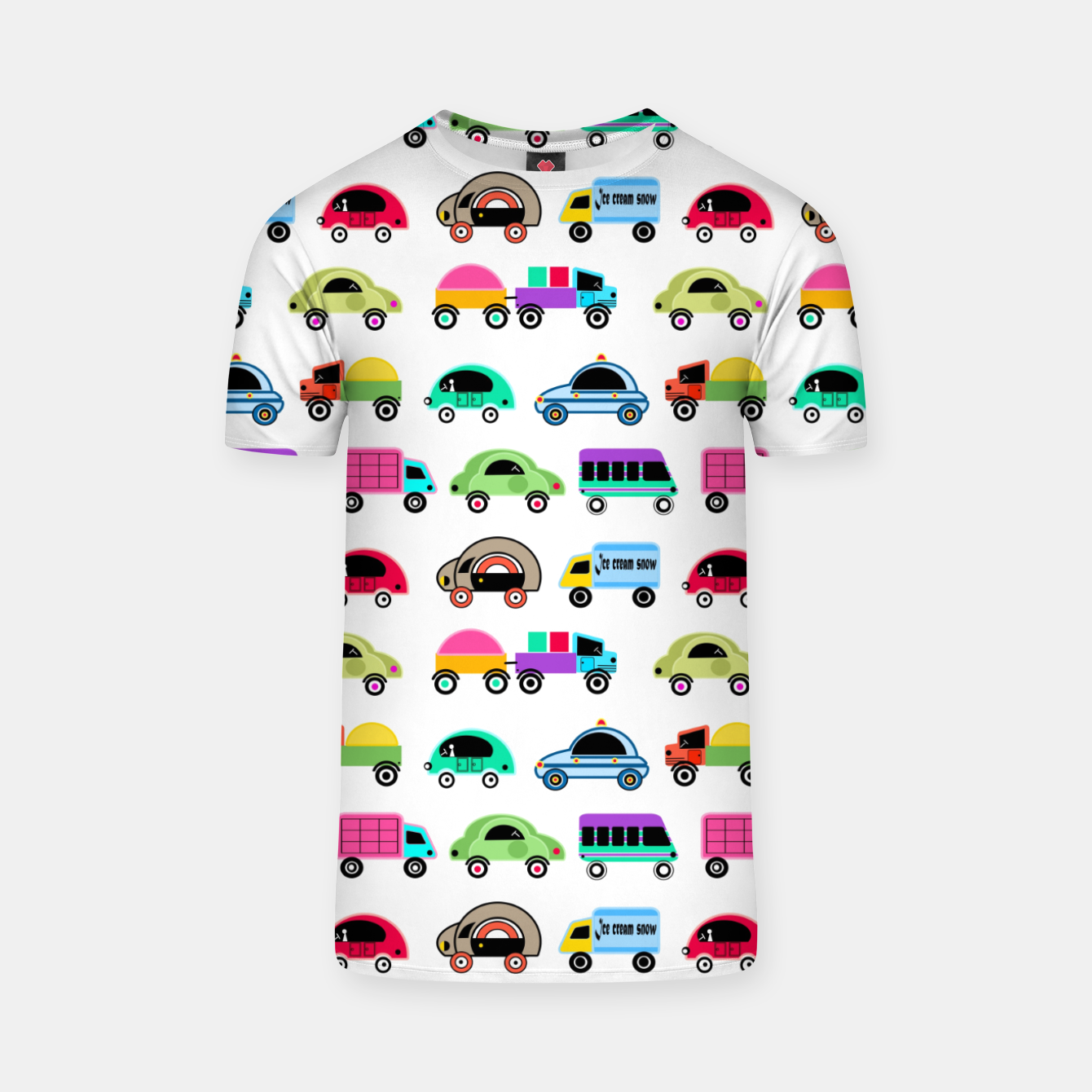 Image of children's car cartoon, mixed colors T-shirt - Live Heroes