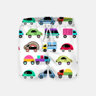 Thumbnail image of children's car cartoon, mixed colors Swim Shorts, Live Heroes