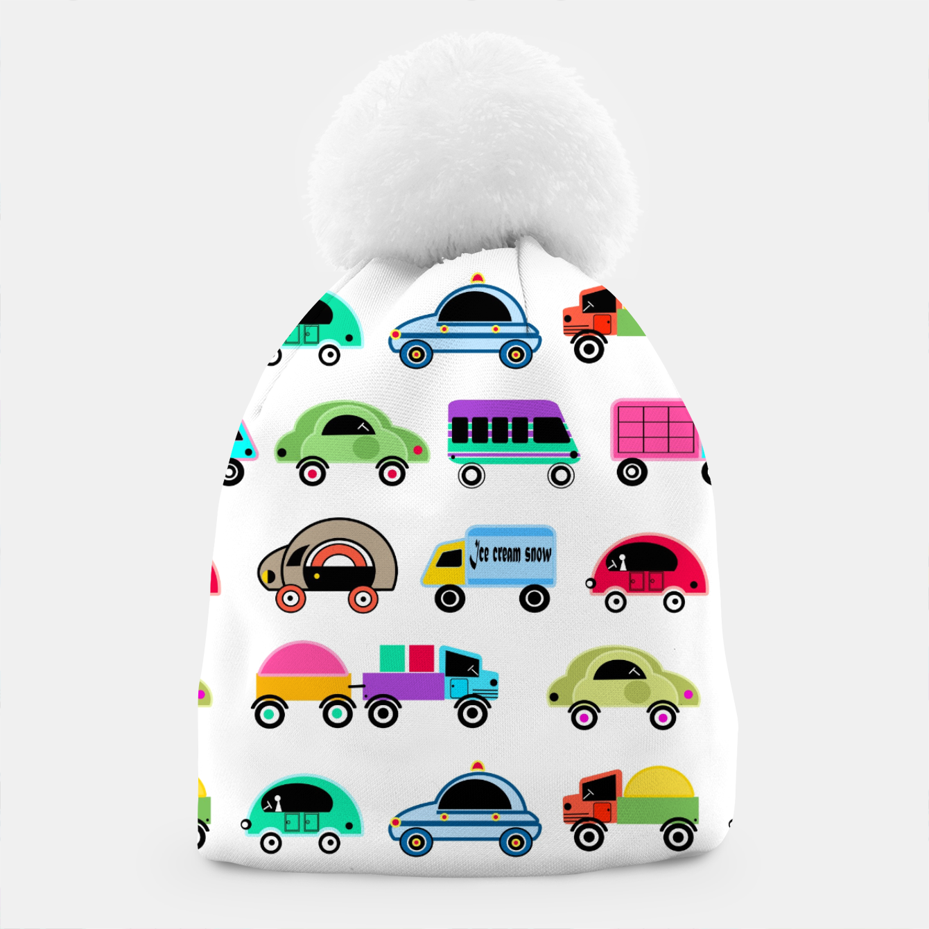 Image of children's car cartoon, mixed colors Beanie - Live Heroes
