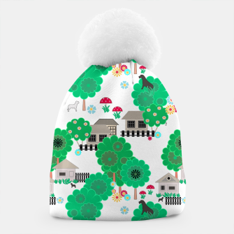 Thumbnail image of Fun children's  pattern Beanie, Live Heroes