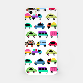 Thumbnail image of children's car cartoon, mixed colors iPhone Case, Live Heroes