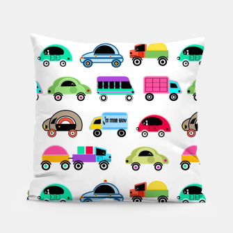 Thumbnail image of children's car cartoon, mixed colors Pillow, Live Heroes