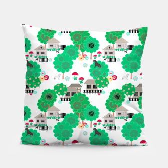 Thumbnail image of Fun children's  pattern Pillow, Live Heroes