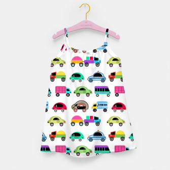 Thumbnail image of children's car cartoon, mixed colors Girl's dress, Live Heroes