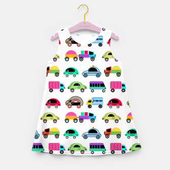Thumbnail image of children's car cartoon, mixed colors Girl's summer dress, Live Heroes