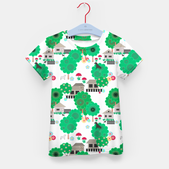 Thumbnail image of Fun children's  pattern Kid's t-shirt, Live Heroes