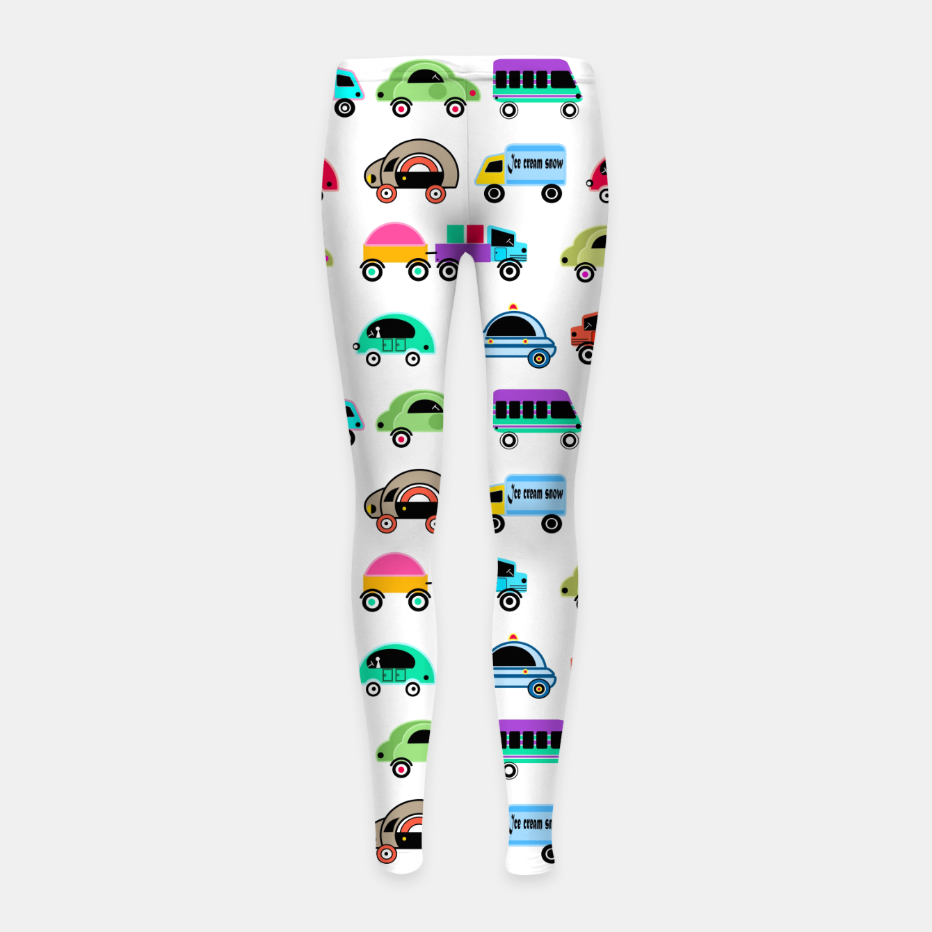 Image of children's car cartoon, mixed colors Girl's leggings - Live Heroes