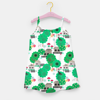 Thumbnail image of Fun children's  pattern Girl's dress, Live Heroes