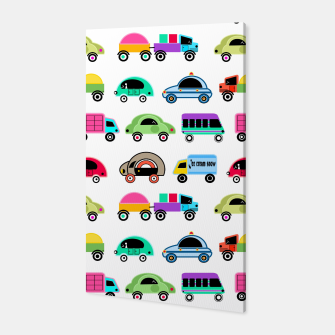 Thumbnail image of children's car cartoon, mixed colors Canvas, Live Heroes
