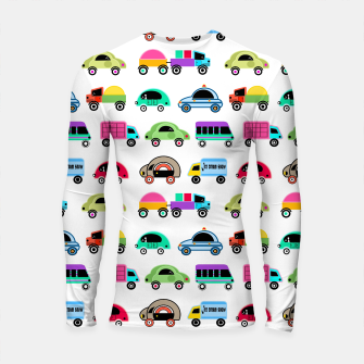 Thumbnail image of children's car cartoon, mixed colors Longsleeve rashguard , Live Heroes