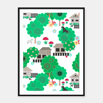 Thumbnail image of Fun children's  pattern Framed poster, Live Heroes