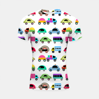 Thumbnail image of children's car cartoon, mixed colors Shortsleeve rashguard, Live Heroes