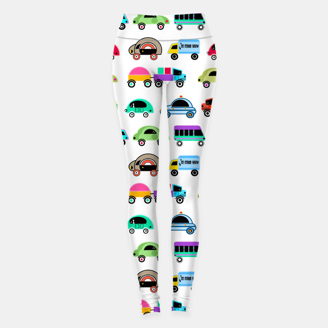 Image of children's car cartoon, mixed colors Leggings - Live Heroes