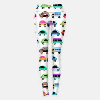 Thumbnail image of children's car cartoon, mixed colors Leggings, Live Heroes